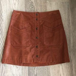 Free people vegan suede mini skirt